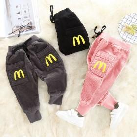 宝宝加绒长裤男 女童儿童冬季加厚棉裤1-3-6岁婴