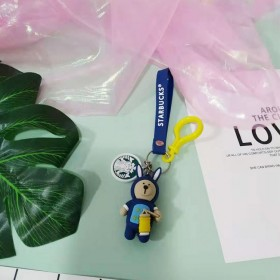 可爱萌趣韩国小熊可爱立体公仔钥匙扣链挂件