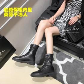 瘦瘦中筒短靴马丁靴