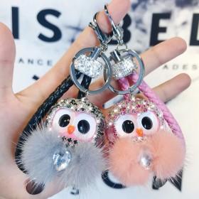 新款时尚潮流个性气质可爱小清新猫头鹰钥匙挂件