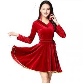 广场舞舞蹈服套装连衣裙服装中老年拉丁舞健身演出服女
