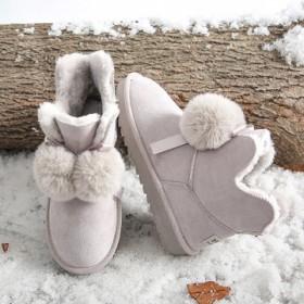 2019冬新款加绒保暖厚底雪地靴女学生百搭防滑棉鞋