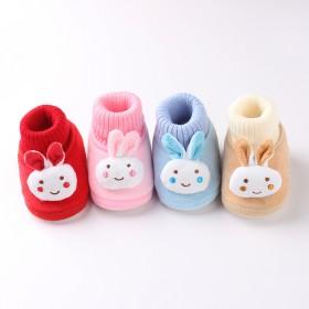 秋冬新款婴儿棉鞋可爱兔子男女宝宝棉鞋软底学步鞋子