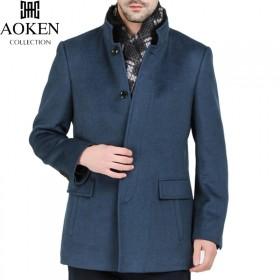 品牌纯羊绒大衣男外套毛呢子保暖冬季加厚