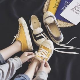 饼干鞋女韩版街拍百搭帆布鞋女加绒原宿ulzzang