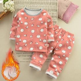 宝宝秋冬装加绒保暖内衣套装0-5岁婴幼儿童