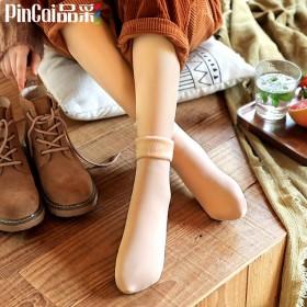 5双装【品彩】加绒加厚中筒保暖雪地袜