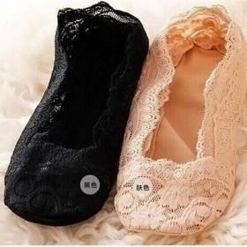 蕾丝袜船袜女潮纯棉袜底