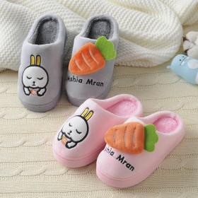 棉拖鞋女童冬季卡通保暖男宝宝拖鞋小童可爱防滑加厚拖