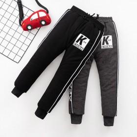 加绒加棉加厚三层儿童棉裤外穿男童女童裤子保暖