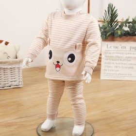 【加绒加厚】儿童保暖衣套装男女宝宝高腰护肚婴儿秋衣