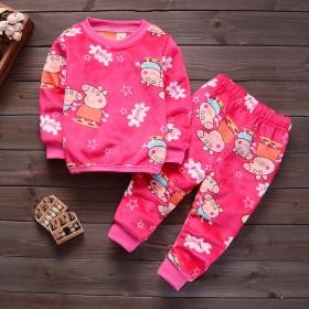 童装男童冬装2019新款儿童保暖内衣0-4岁加绒加