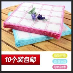 【包邮】10个装5层全棉厨房清洁加厚洗碗布百洁布