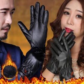 电瓶车保暖可触屏手套保暖手套男女士秋冬季防水骑车