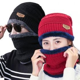 冬天帽男女潮秋冬季男士针织帽加绒加厚毛线帽套头帽脖