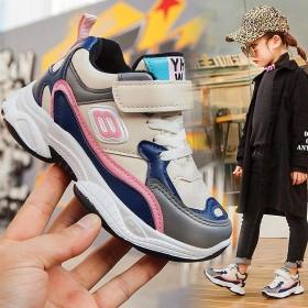 加棉运动鞋秋冬新款女童保暖老爹鞋中大童跑步鞋男童休