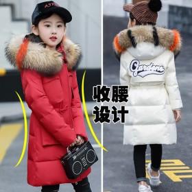 女童棉衣冬装新款韩版加厚棉袄中大童儿童冬季中长款