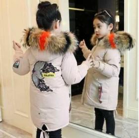 童装女童棉衣冬款韩版中长款棉袄儿童加厚大毛领棉服