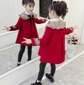 童装女童毛呢外套中长款秋冬韩版加厚中大儿童呢子大衣
