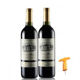 法国进口品质红酒干红葡萄酒2支