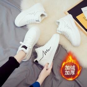 棉鞋女運動鞋女低幫老爹鞋女休閑內增高加絨冬天秋冬小