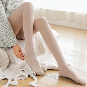 打底裤女秋冬保暖肤色连脚拉绒踩脚一体裤外穿薄绒高腰