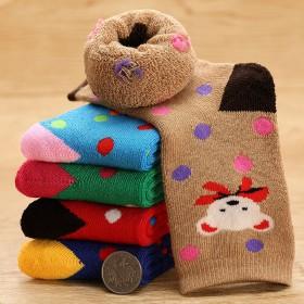 【4双装】儿童袜子秋冬季加厚保暖毛圈袜男女中筒袜