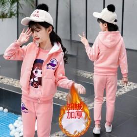 【筠依衣】童装女童套装冬装加绒加厚卫衣三件套洋气