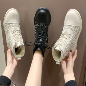 馬丁靴女英倫風女鞋2019新款冬季韓版加絨短靴百搭