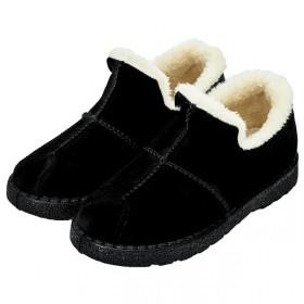 冬加绒加厚防滑豆豆鞋女中老保暖妈妈乐福包根月子二棉