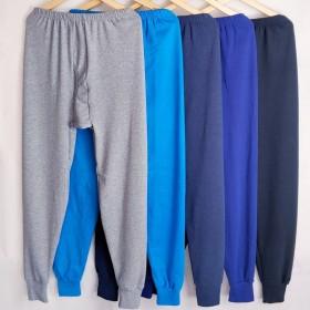 2条装 男士秋裤男保暖裤男加绒加厚绒裤男宽松衬裤线