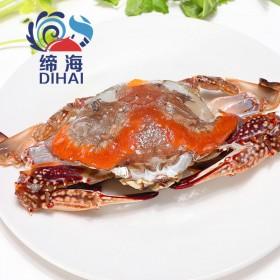 缔海 温州海鲜红膏呛蟹咸炝蟹腌梭子蟹醉螃蟹即食年货