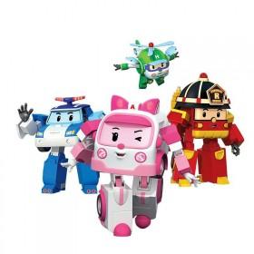 卡通动漫珀利警车珀利玩具交通救援队机器人手动变形