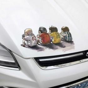 个性贴膜汽车车子大货车用品装饰大全图案贴纸白色车皮