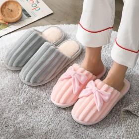 冬季棉拖鞋女可爱月子鞋情侣棉拖家居室内防滑拖鞋