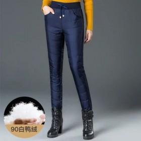 新款羽绒裤女外穿高腰加厚中老年