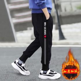 男童裤子秋冬款运动裤长裤2019新款韩版加绒加厚