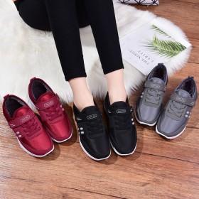 老年健步鞋情侣老人休闲鞋防滑软底妈妈爸爸老北京加绒