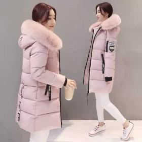 外贸大码女装2018新款冬季棉衣女中长款羽绒棉服外