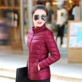 反季秋冬时尚新款轻薄棉衣棉服女短款修身显瘦百搭棉衣