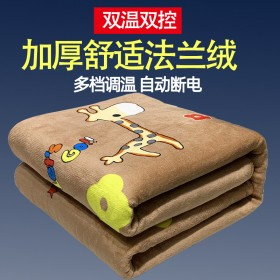 电热毯双人双控法兰绒加厚1.8x1.5米宽安全防水