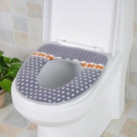 点点马桶垫加厚防水魔术扣马桶套圈保暖坐厕坐便垫