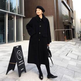 毛呢外套女中长款韩版气质显瘦呢子大衣