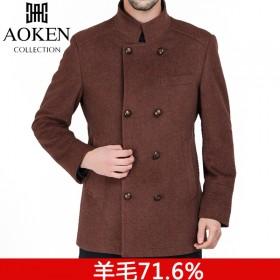 71%羊毛呢大衣外套冬季有里衬精做工