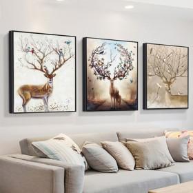 【三联画】北欧客厅装饰画壁画