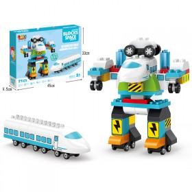 骏达隆积木拼装益智儿童玩具积木变形机器人男孩玩具