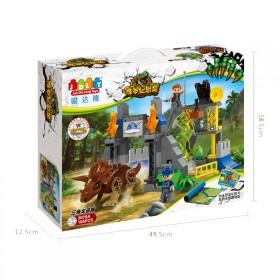 骏达隆大颗粒拼装恐龙玩具启蒙积木拼图儿童益智侏罗纪