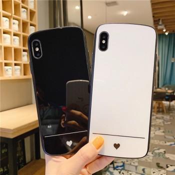 爱心玻璃情侣苹果6s/7/8/X/11pro手机壳