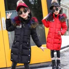 女童棉衣中长款儿童棉服中大童棉袄女孩加厚时尚外套