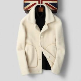 海宁皮衣男羊剪绒皮毛一体冬季皮夹克羊羔毛时尚潮流加